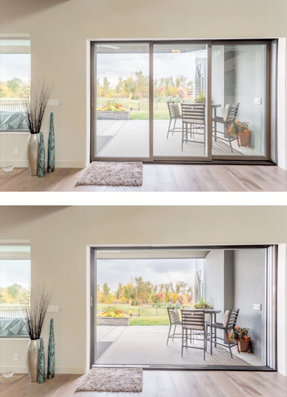 Stacking and pocket configurations & Pinnacle | Wood Clad and Primed Windows u0026 Doors | Windsor Windows ...